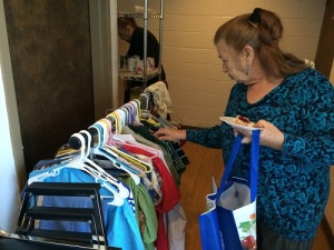 Here's Emma, one of our regular clients, selecting a few items.